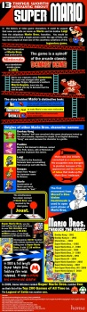 super mario, knowledge, information,13 things worth knowing about super mario,video game infographic